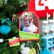 Magical Elf Holiday Photo Hangtag Printable Card - Red and Lime Green - Signature Design